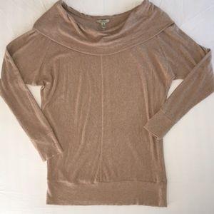 Anthropologie Bordeaux off shoulder sweater. SizeS